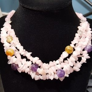 Jewelry - Multi Strand Galilea Rose Quartz